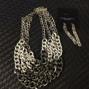 Accessories - Chain Necklace and earrings set